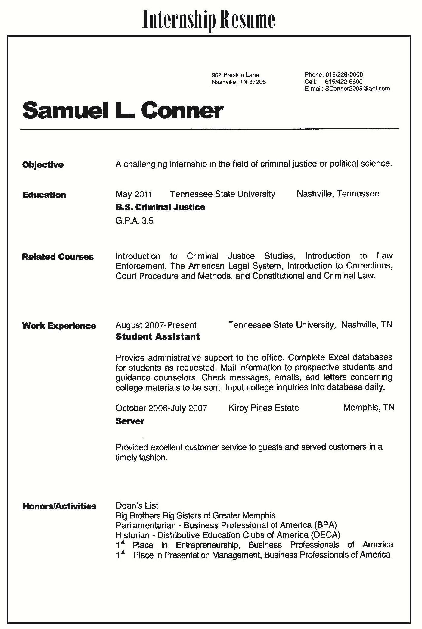 accounting internship cover letter samples